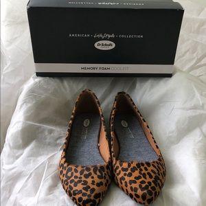 Dr. Scholl's Shoes - Dr. Scholl's Leopard Flats Cognac And black